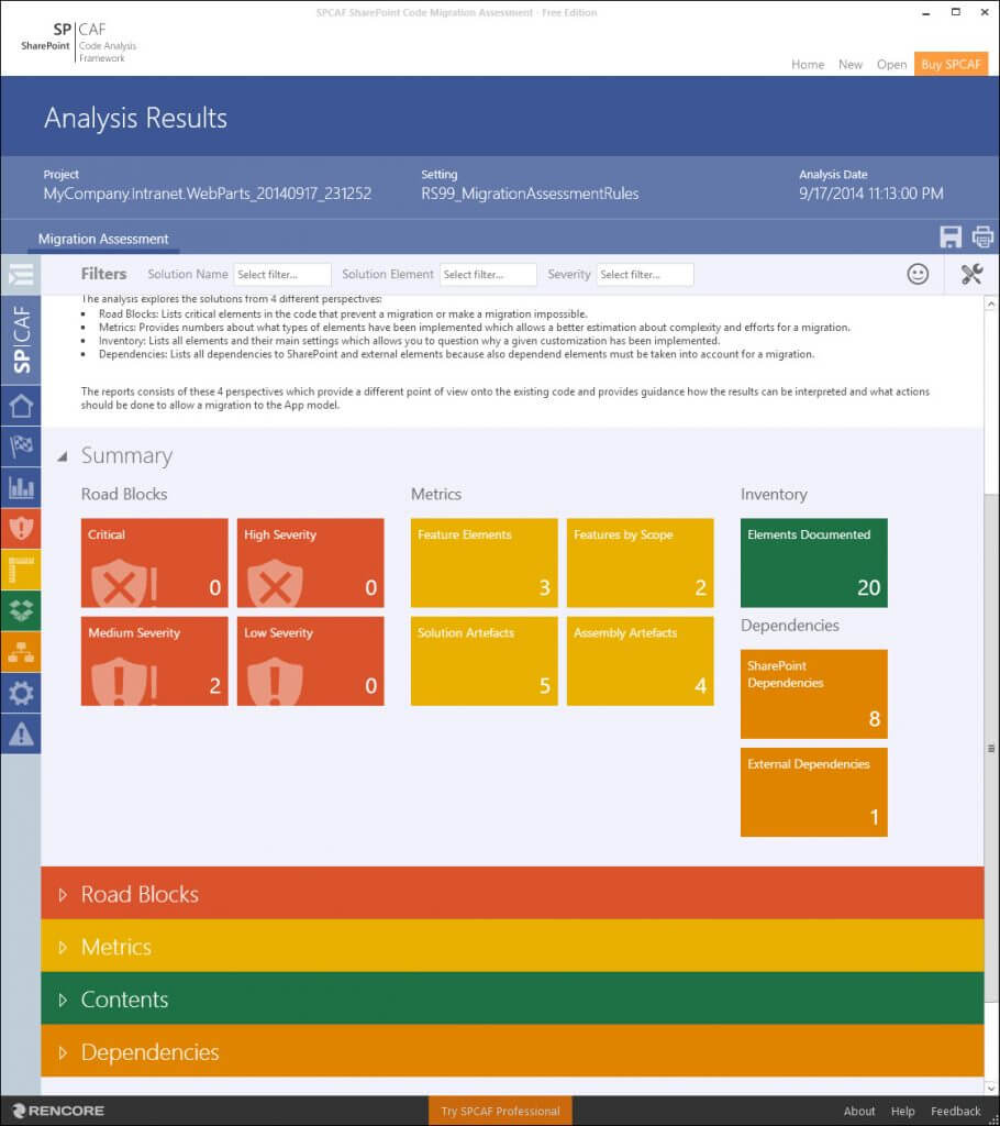 Code Migration Assessment