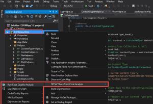 Screenshot SPCAF Code Analysis