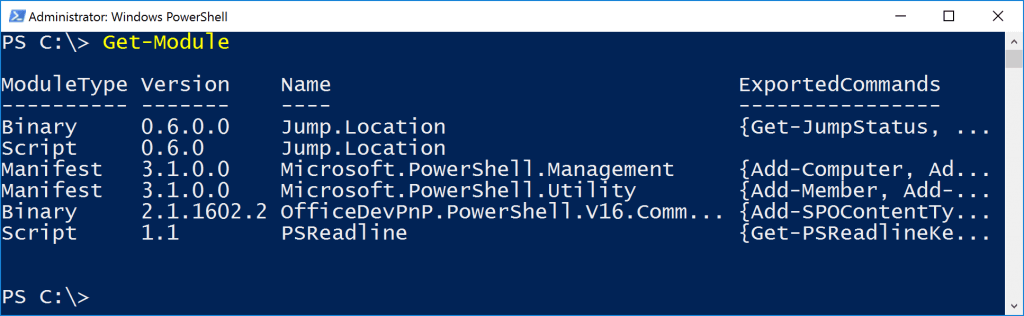 PowerShell Cmdlets