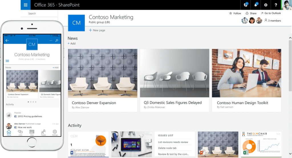 Modern SharePoint team site