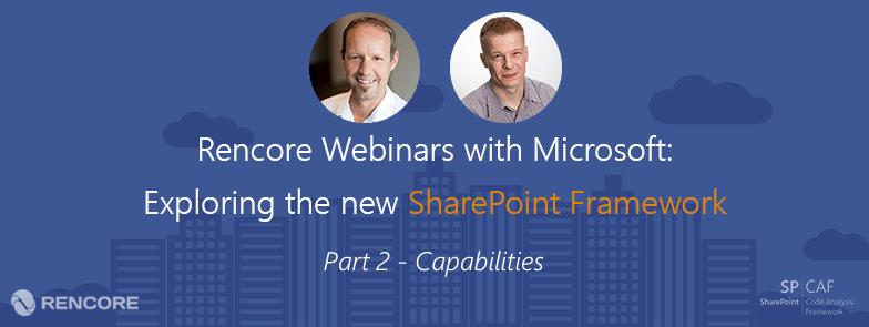 SharePoint Framework capabilities