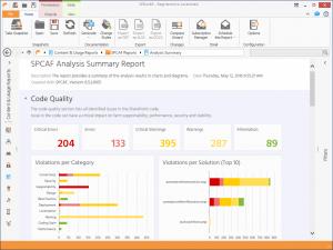 Screenshot SPCAF Analysis Summary Report
