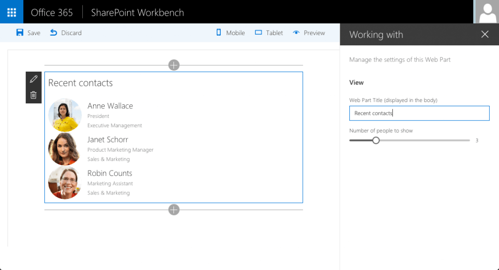 Office Graph- working-with