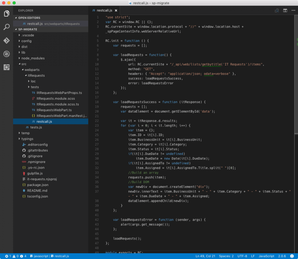javascript-customization-sharepoint-framework-existing-script