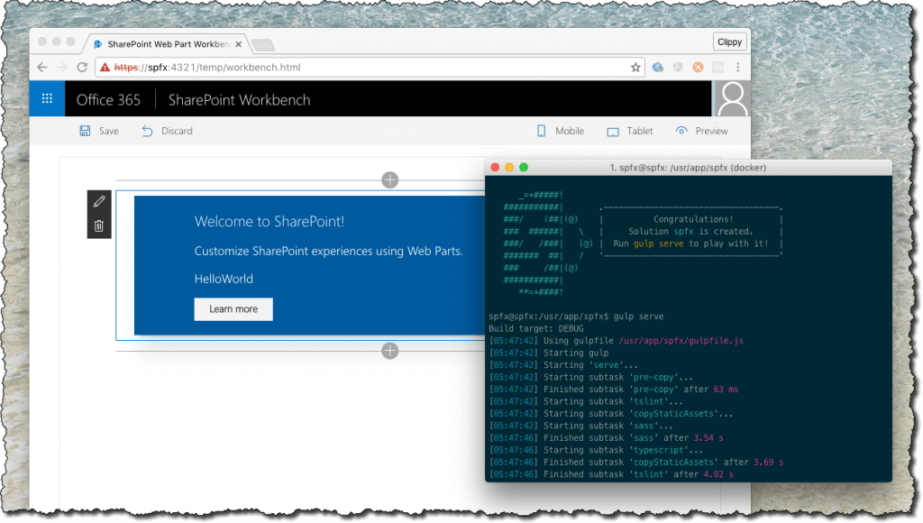 SharePoint Framework-docker-workbench