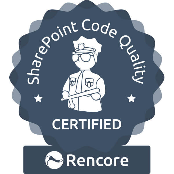 Icon Sharepoint Code Quality Certification - Rencore GmbH